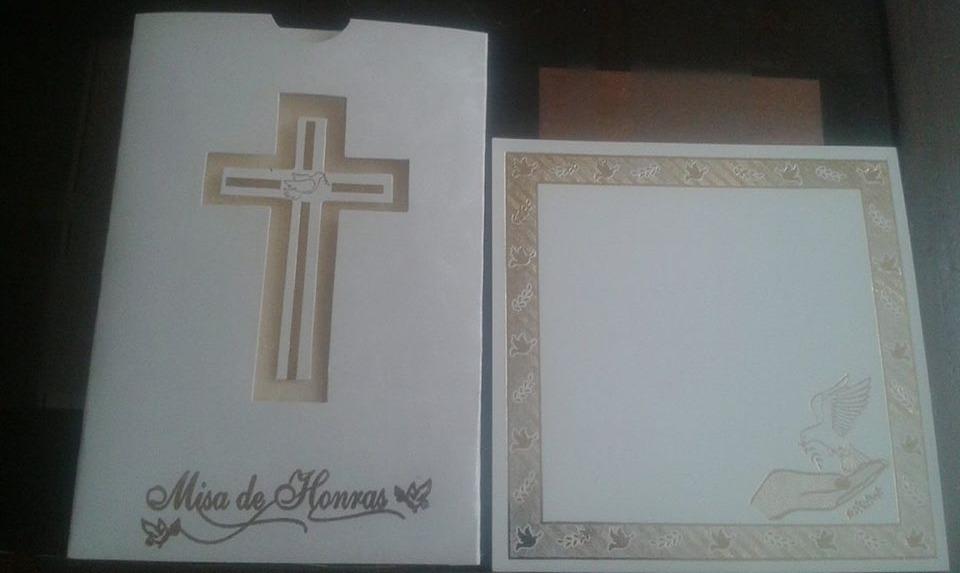 Invitaciones Misa De Honras Bautizo Comunion Confirmacion