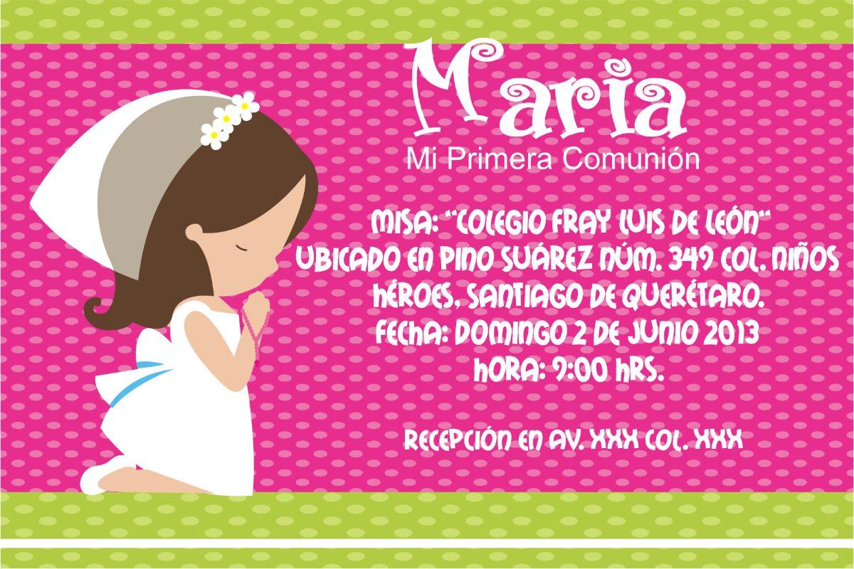 d864d4e3f42da Invitaciones Niño Niña Comunion Imprimibles -   80.00 en Mercado Libre