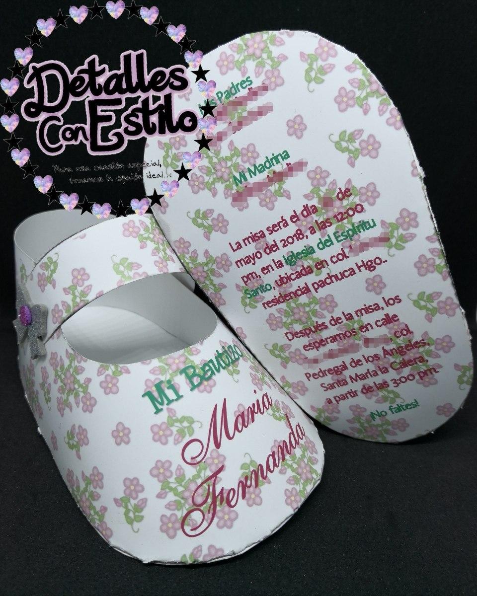 Invitaciones Originales Zapatito Baby Shower Bautizo Cumple