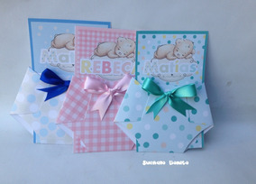 Invitaciones Pañales Para Baby Shower