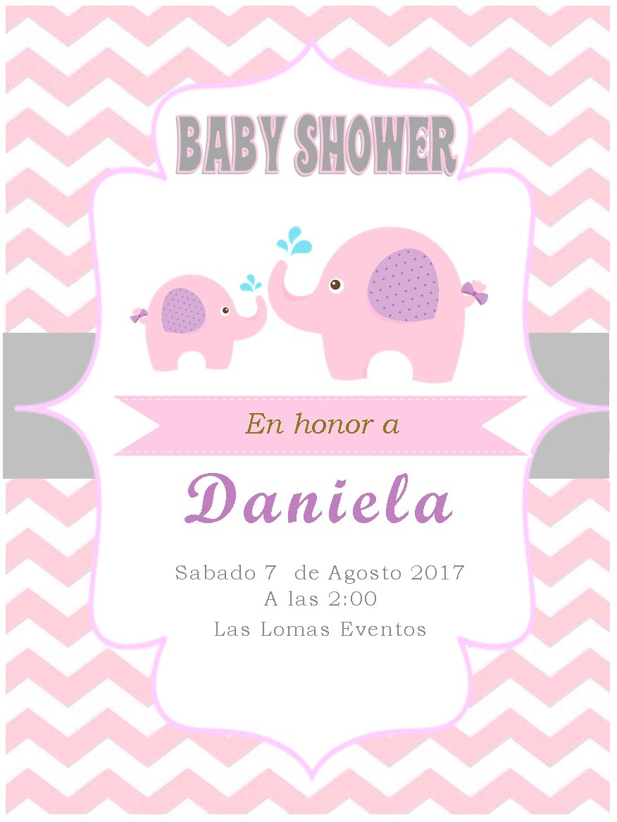 Invitaciones Para Baby Shower 4000 En Mercado Libre