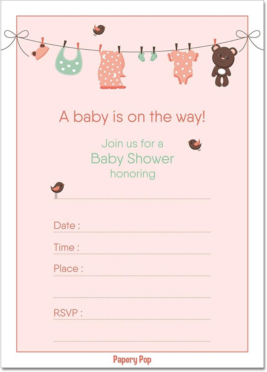 Invitaciones Para Baby Shower Con Sobres 15 Count Boy