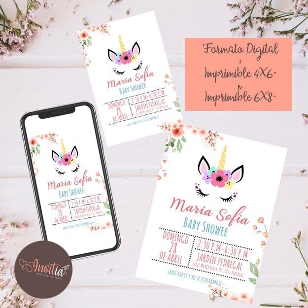 Invitaciones Para Baby Shower Imprimible Y Digital Económica