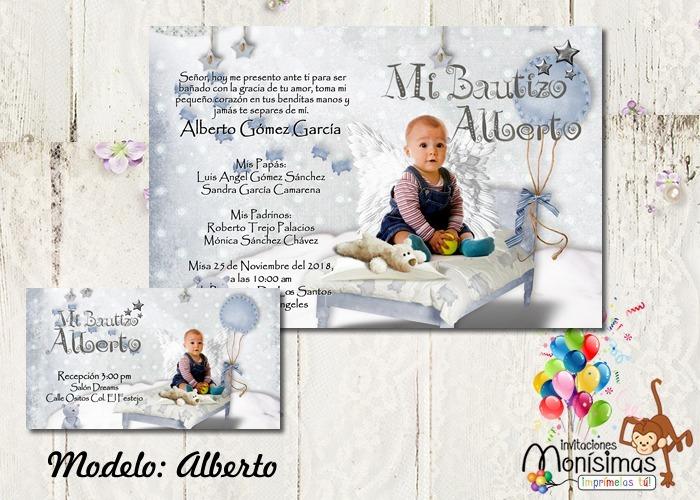 Invitaciones Para Bautizo Monísimas Imprimelas Tu
