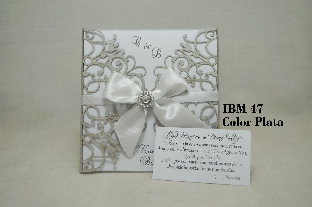invitaciones para boda paquete de 50 piezas