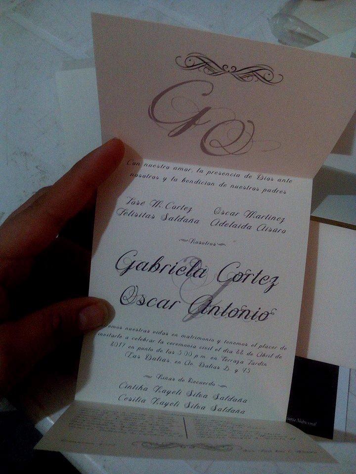 invitaciones para boda  sencillas en marfil c  sello de