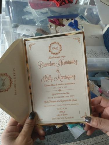 invitaciones para bodas, 15 años, eventos familiares, etc.