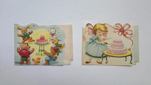 invitaciones para fiesta infantil vintage antigua lote de 43