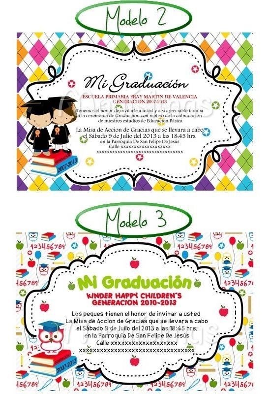 Invitaciones Para Graduación Imprimelas Tu Maa