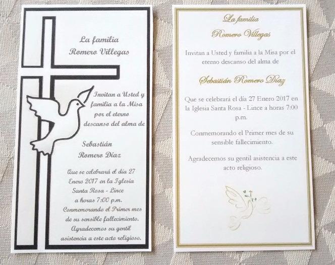 Invitaciones Para Misa