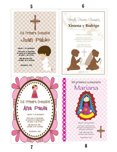 invitaciones para primera comunión con diseño e impresión