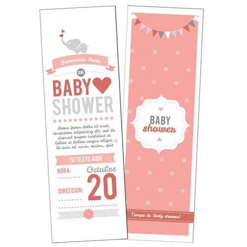 invitaciones para tu baby shower, por ambas caras