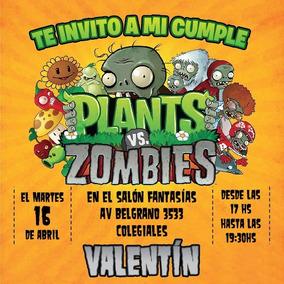 Invitaciones Para Whatsapp E Imprimibles Plantas Vs Zombies