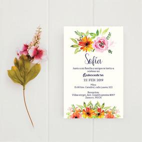 Invitaciones Para Xv Años Diseño Listo Para Imprimir