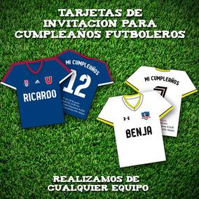 Invitaciones Parte Tarjetas De Cumpleaños Motivo Futbol