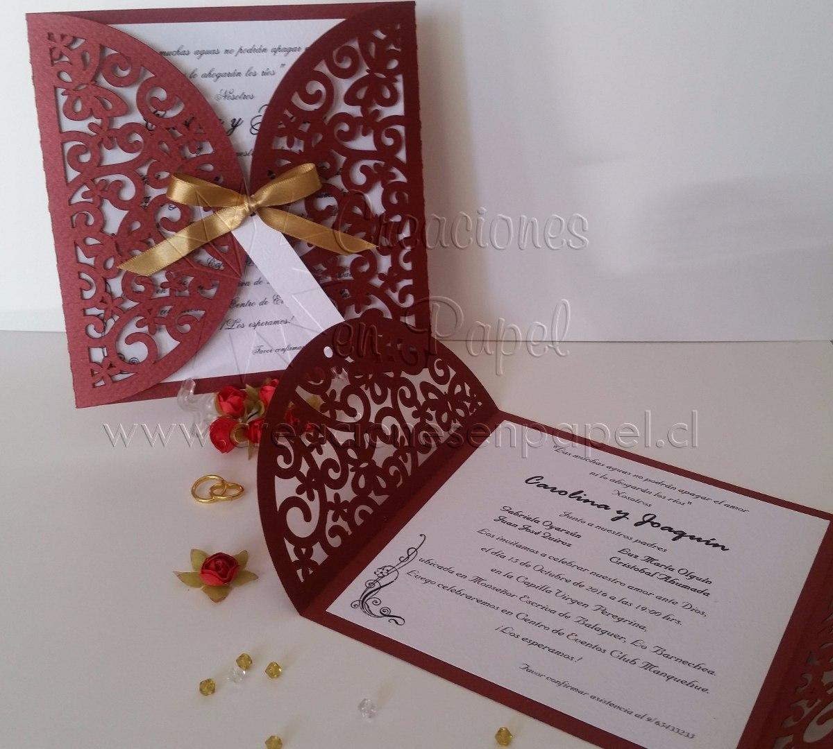 Parte De Matrimonio Rustico : Invitaciones partes de matrimonio  en mercado libre