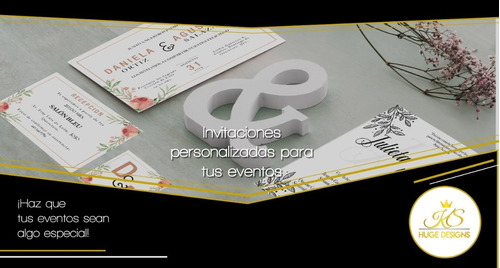 invitaciones personalizadas.