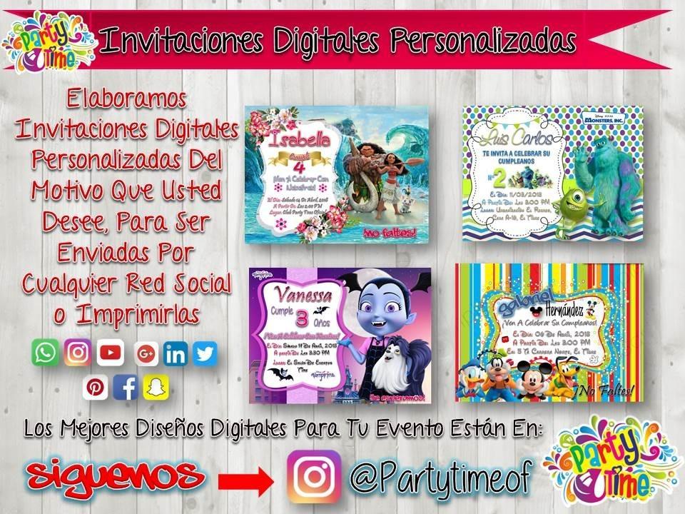 Invitaciones Personalizadas De Paw Patrol Tarjeta Digital