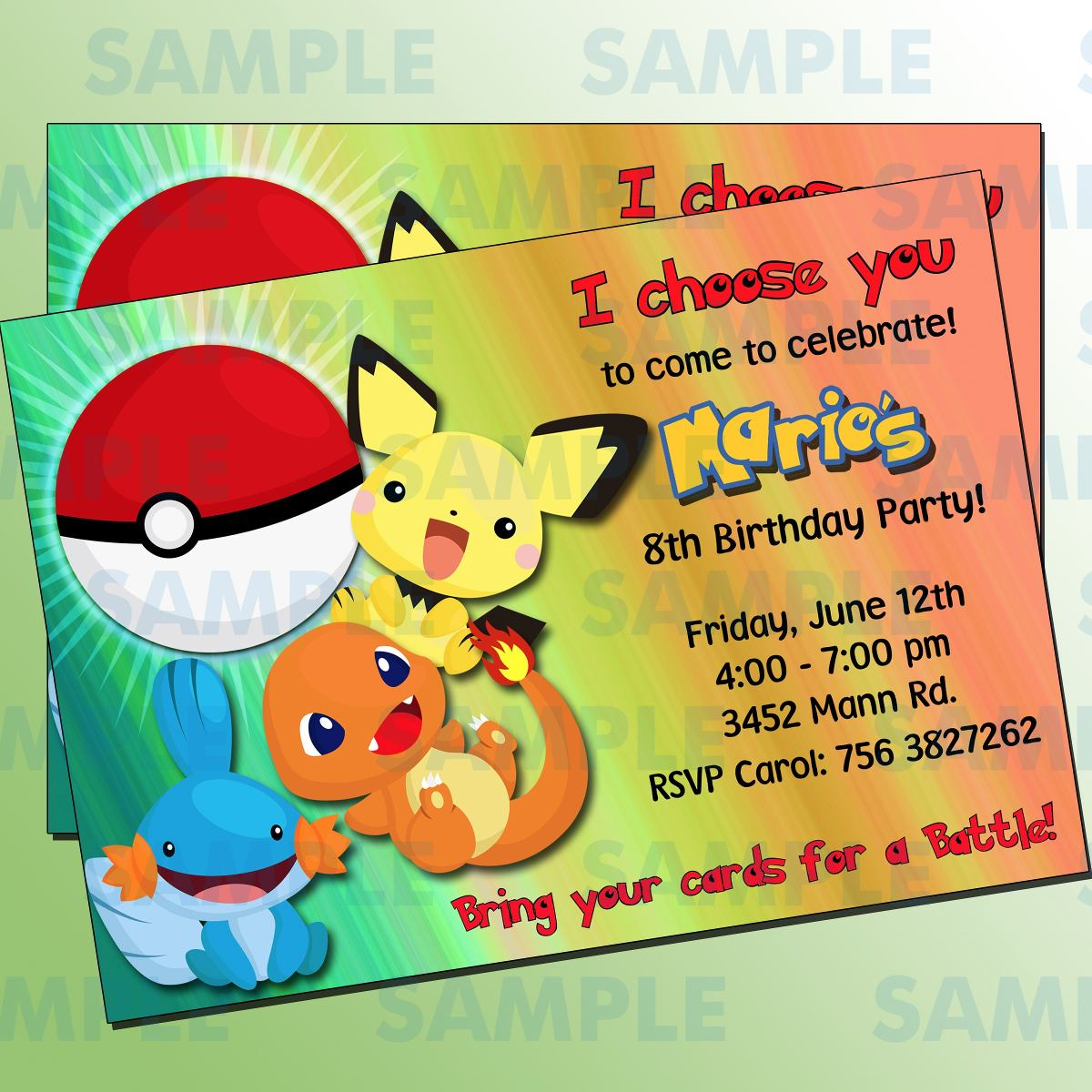 Free Printable Pokemon Invitations as best invitations layout