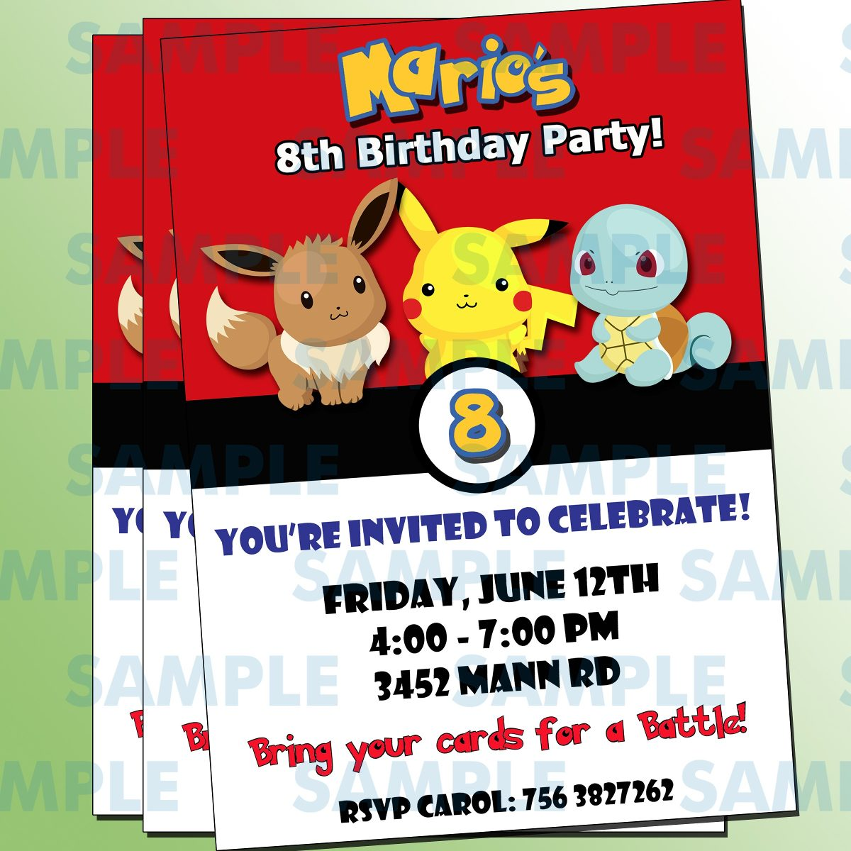 Pokemon Party Invitations for amazing invitations template