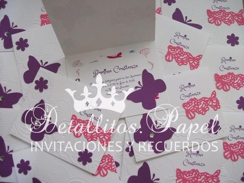 invitaciones presentación, 3 años, cumpleaños, comunión niña