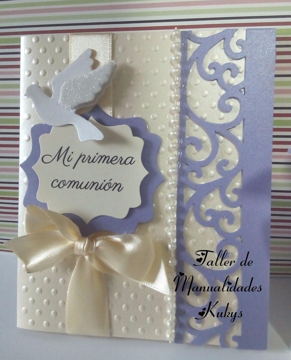Invitaciones de primera comunion finas en - Como hacer tarjetas para comunion ...