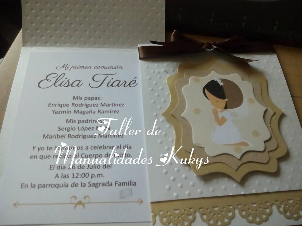 invitaciones de primera comunion en mexico