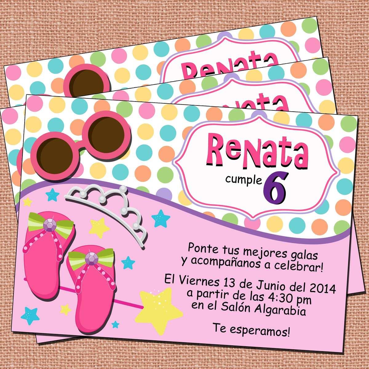 invitaciones princesas fiesta princesas invitaciones niña