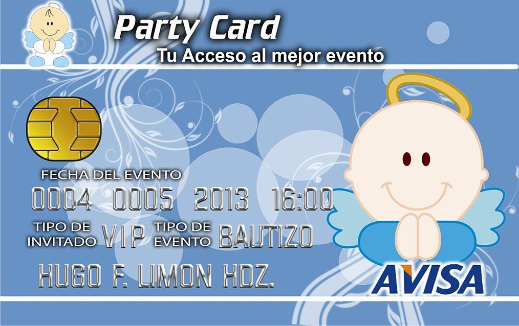 Invitaciones Pvc Tipo Ife Tarjeta De Credito Xv Años