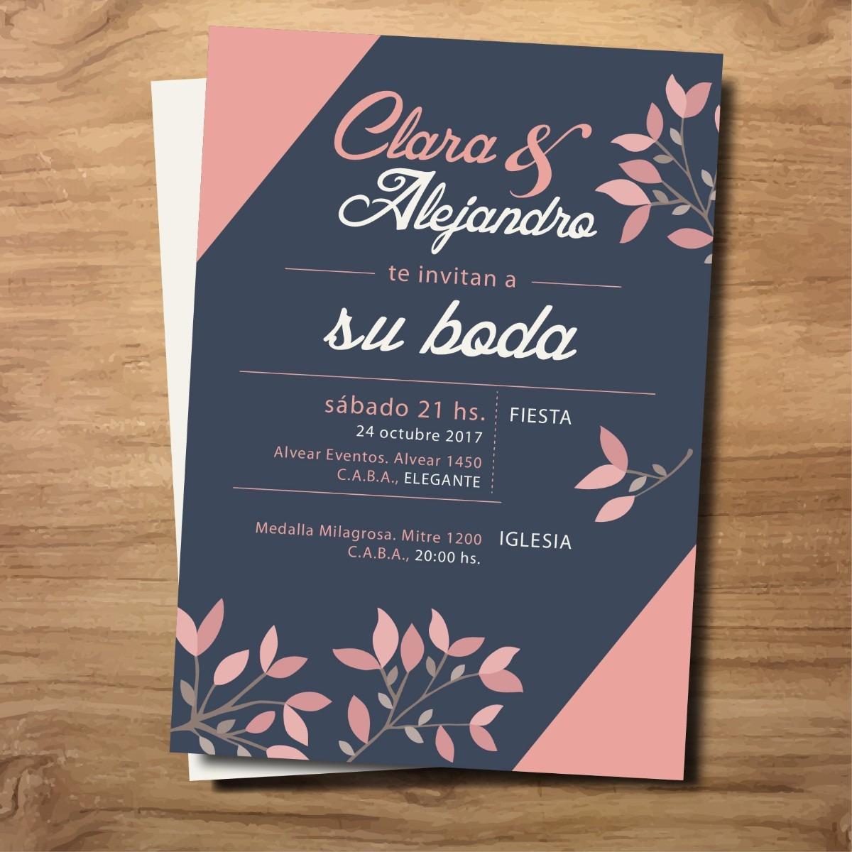 invitaciones retro tarjeta moderna boda 15 casamiento 32 00 en