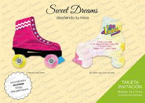 Invitaciones Soy Luna Modelo Patin Cortadas Caladas