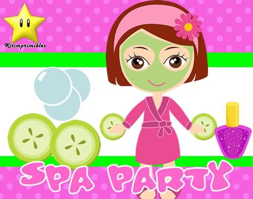 Invitaciones spa party dise tarjetas cumples y mas - Disena tu salon ...