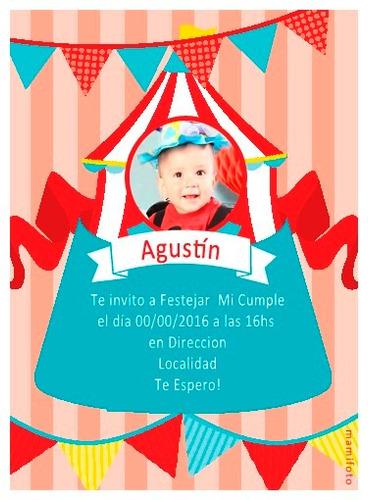 invitaciones tarjeta 13x18 foto primer cumple bebe bautismo