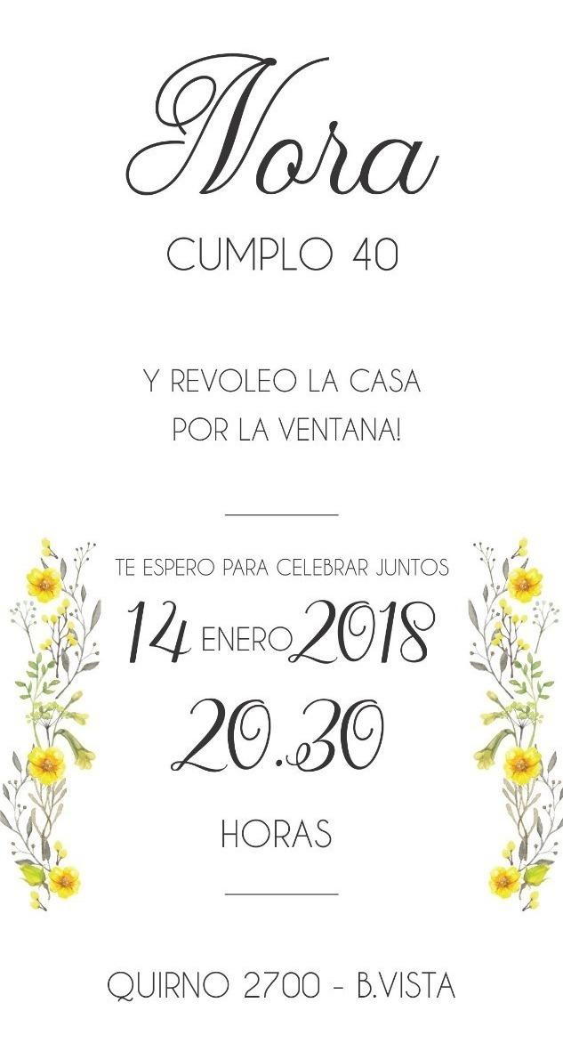 Invitaciones Tarjeta Digitales Cumpleaños 30 40 50 60 70 80