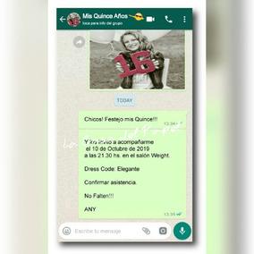 Invitaciones Tarjeta Original 15 Años Casamiento Whatsapp