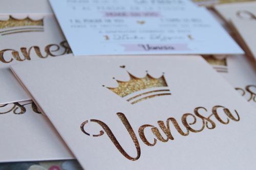 invitaciones - tarjetas - 15 años - bodas  - sobre calado