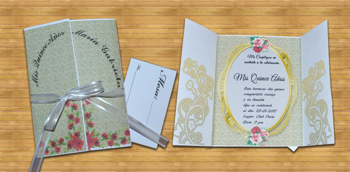 Invitaciones tarjetas 15 a os matrimonio tipo vintage for Tarjetas de 15 anos vintage