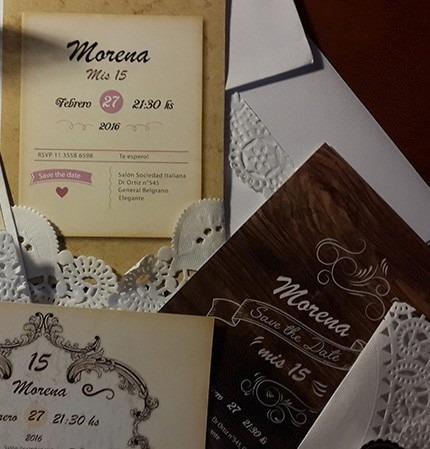 invitaciones tarjetas boda 15 años casamiento c/sobre novios