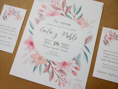 invitaciones tarjetas boda quince años bautismo casamiento