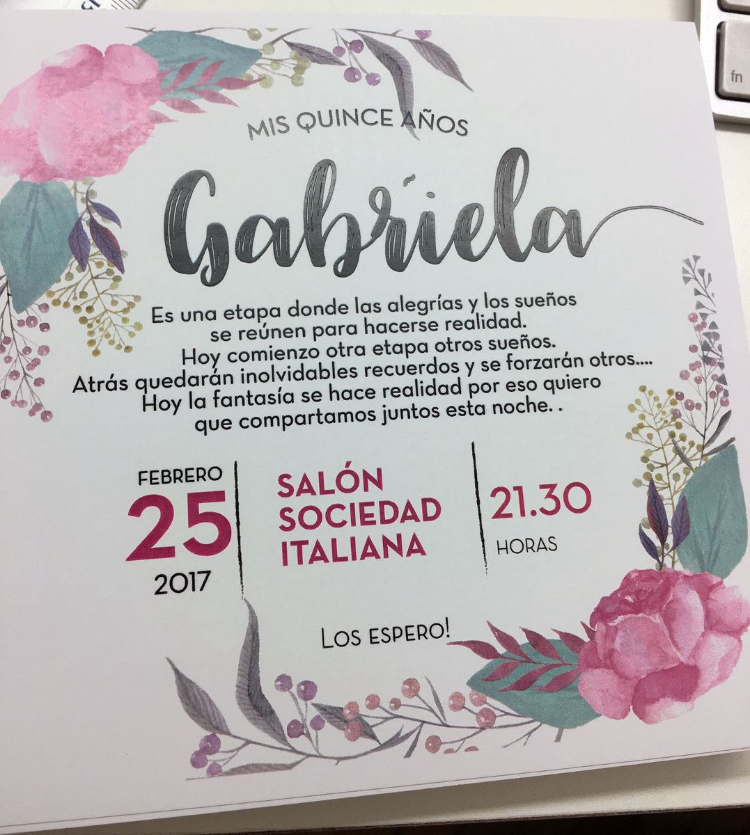 Invitaciones Tarjetas Casamiento 15 Años Modelo Teté