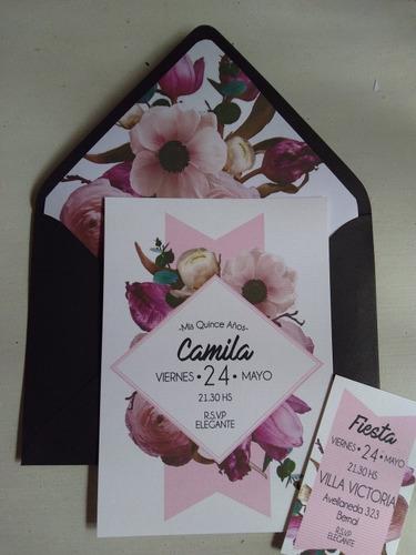 invitaciones tarjetas casamiento quince años 15 boda