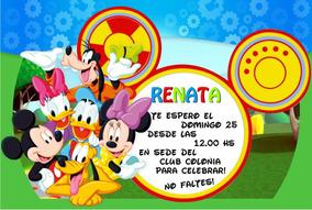 Invitaciones Tarjetas Cumpleaños Mickey 20 X 150