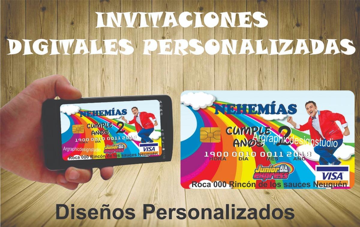 Invitaciones Tarjetas Digitales Cumpleaños Juniors Express