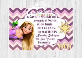 Invitaciones Tarjetas Infantiles Rapunzel X15