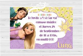 Invitaciones Tarjetas Infantiles Rapunzel X20