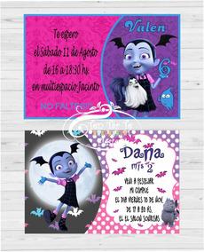 Invitaciones Tarjetas Infantiles Vampirina X20