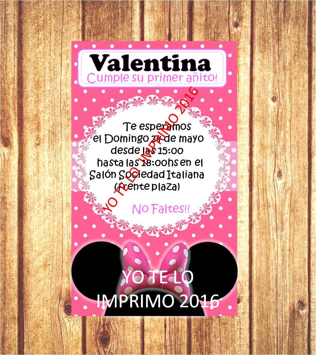 Invitaciones Tarjetas Mickey Minnie Archivo Para Imprimir