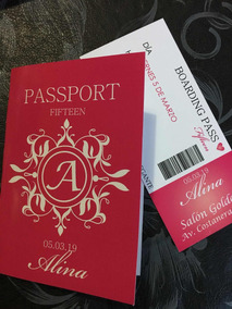 Invitaciónes Tarjetas Pasaporte Bifaz Boarding Pass