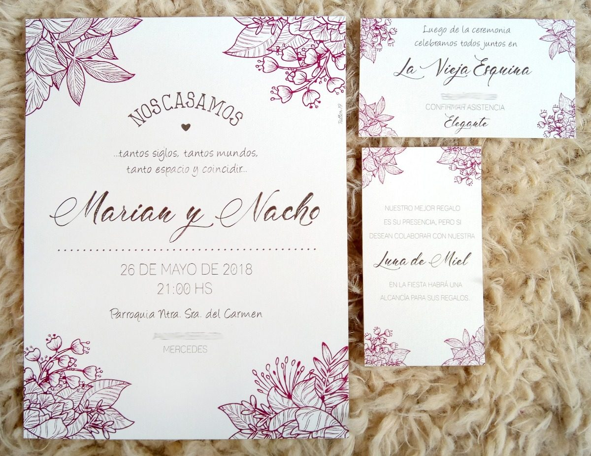 Invitaciones Tarjetas Quince Años Casamiento Boda