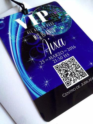 invitaciones tarjetas vip 15 años 10x14 c/sobre